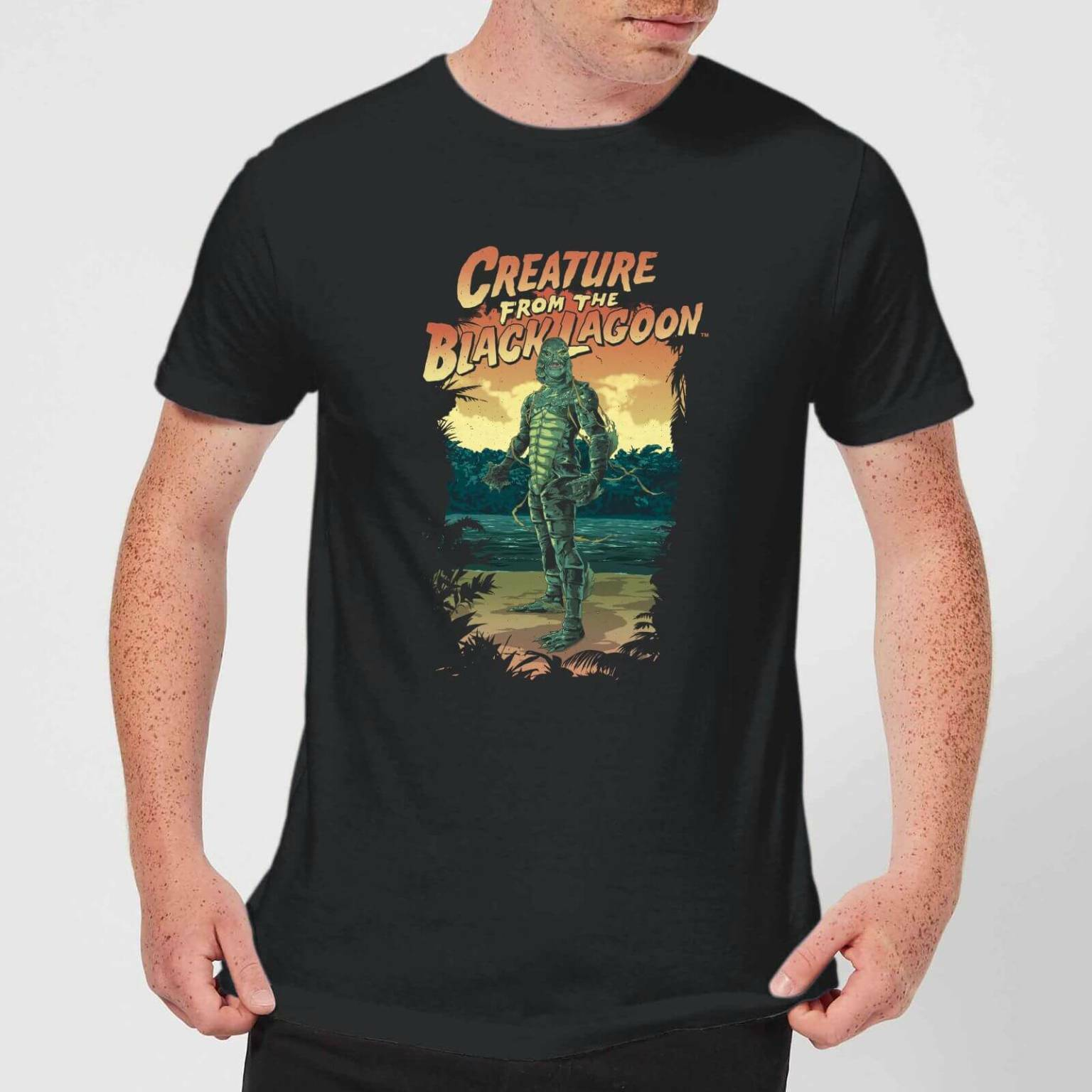 T-Shirt Universal Monsters Creature From The Black Lagoon Illustrated
