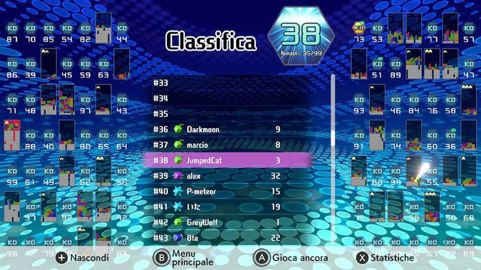 Tetris 99 Classifica