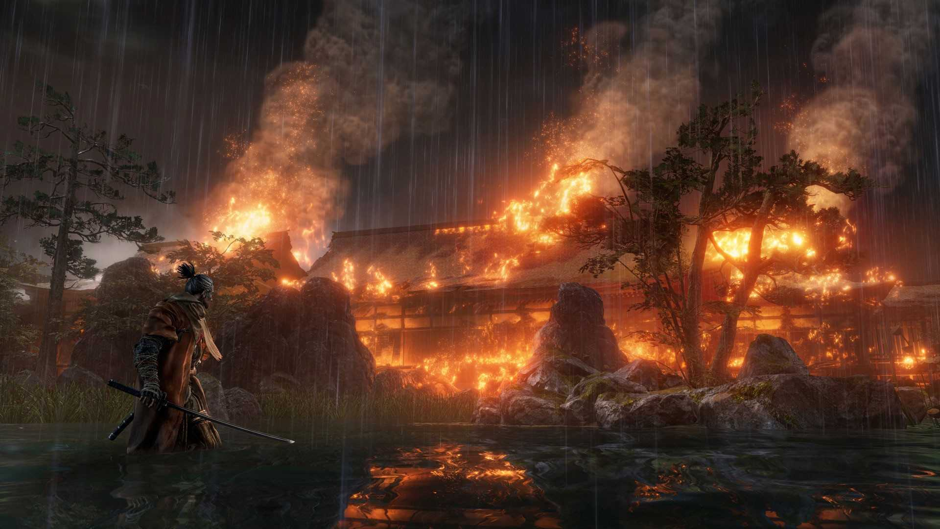Sekiro on fire
