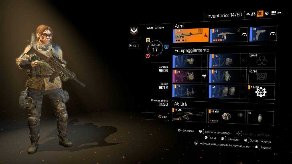 Loadout the division 2