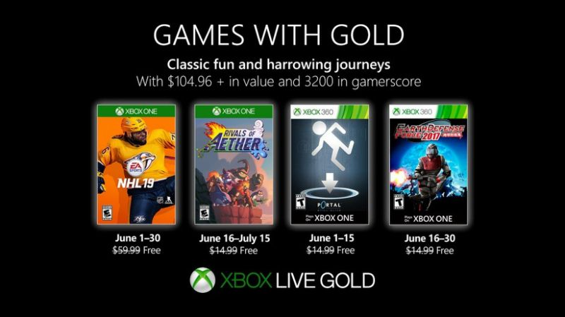 games with gold giugno 2019