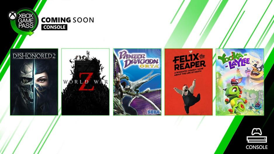 Xbox Game Pass: Fallout New Vegas, World War Z, Dishonored 2 ad ottobre