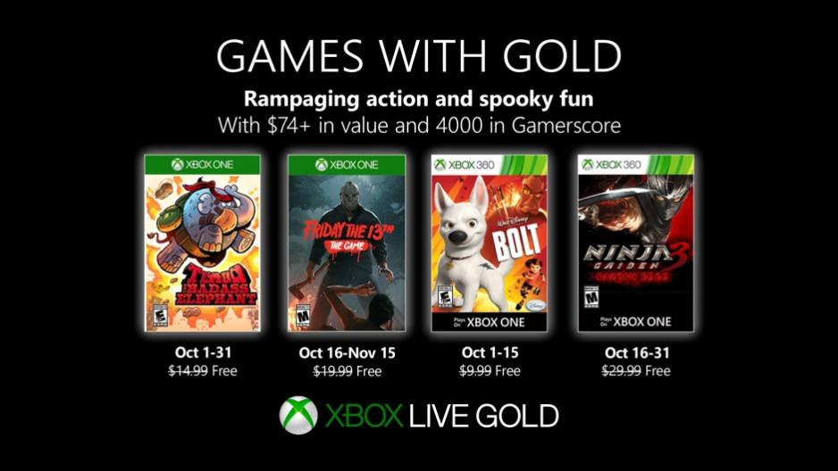 games with gold ottobre 2019