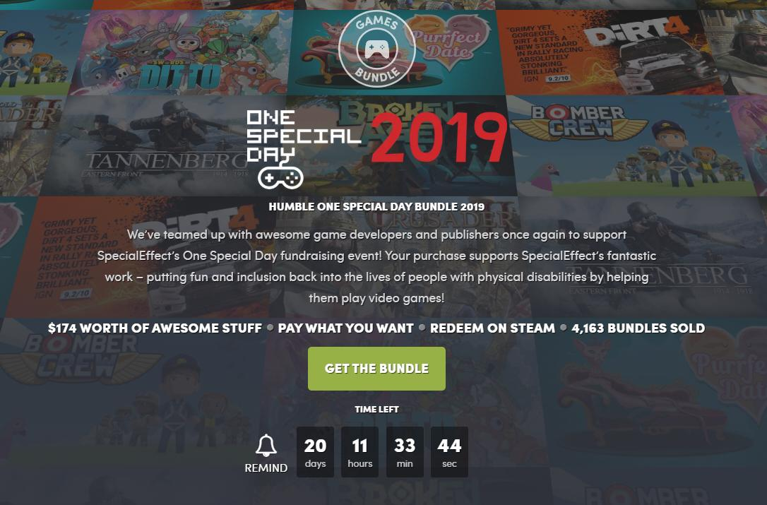 humble bundle one special day 2019
