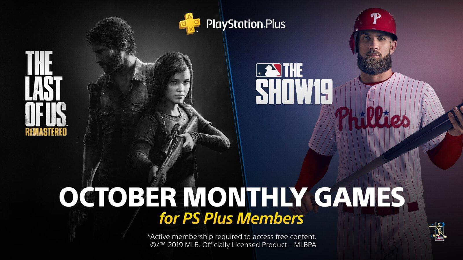 PlayStation Plus: disponibili i giochi gratuiti di ottobre, c'è The Last of Us