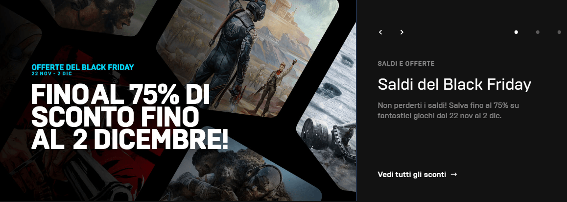 Epic Games Store, Black Friday: sconti su Red Dead Redemption 2, The Outer Worlds