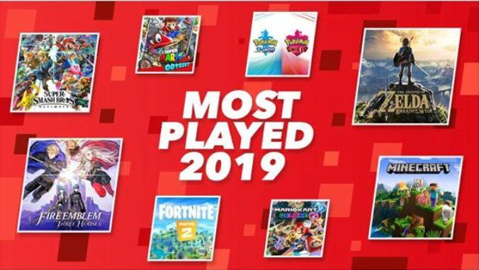 nintendo switch most played 2019