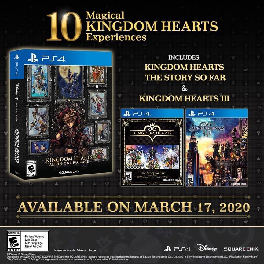 Kingdom Hearts All-In-One Package annunciato per PS4