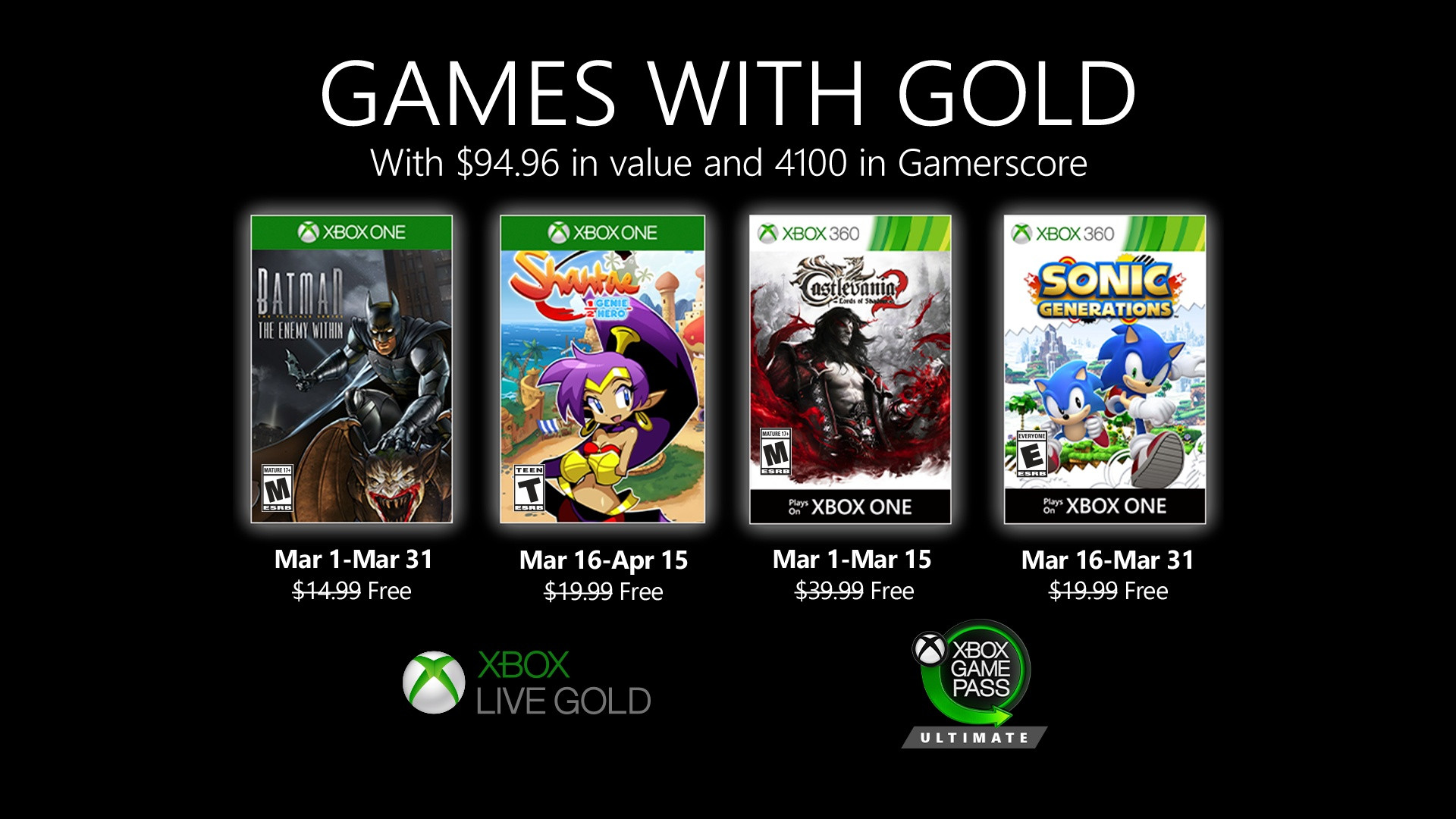 games with gold marzo 2020