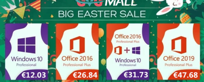 Saldi di Pasqua da GVG Mall: Windows e Office a prezzo speciale