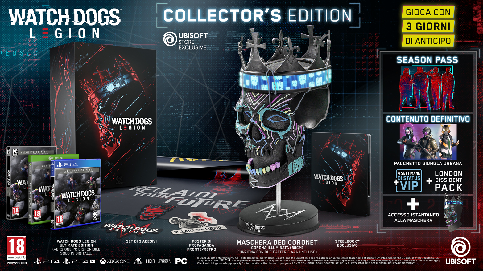 watch dogs legion collector's edition ps4
