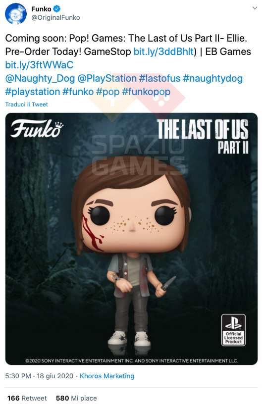 The Last of Us – Part II: here comes the Funko Pop Ellie!