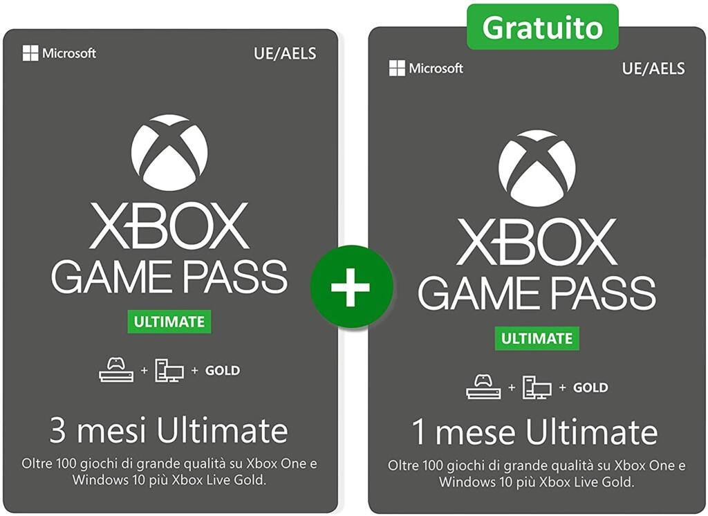 Xbox Game Pass Ultimate: 3 months + 1 free offer on Amazon