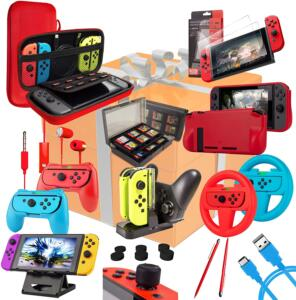 orzly kit accessori nintendo switch